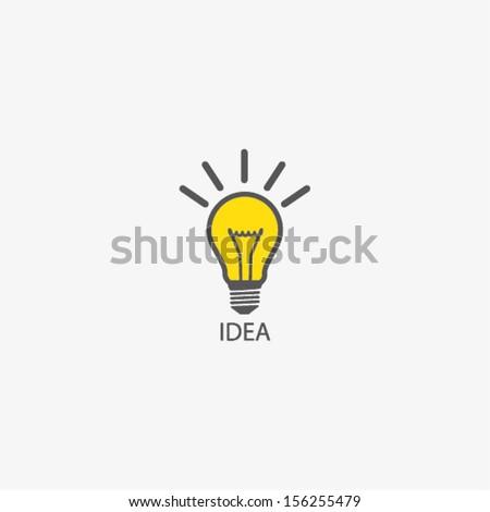 bulb icon with idea concept