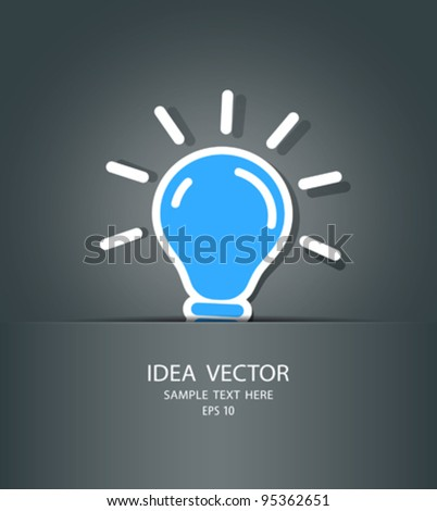 bulb idea in package, vector illustration