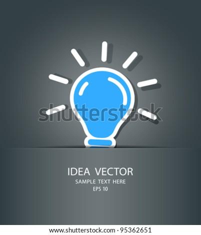 bulb idea in package, vector illustration