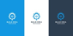 Bulb idea logo design inspiration