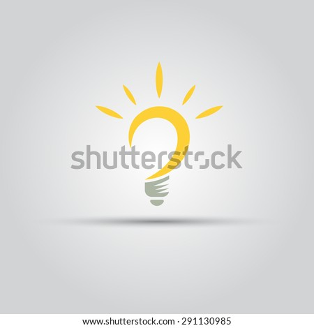 Bulb isolated vector abstract logo of lines