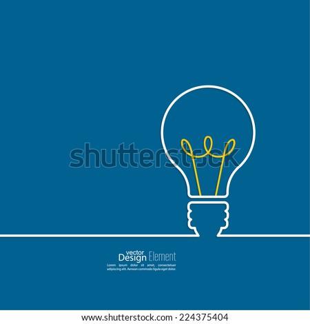 bulb light idea. concept of big ...