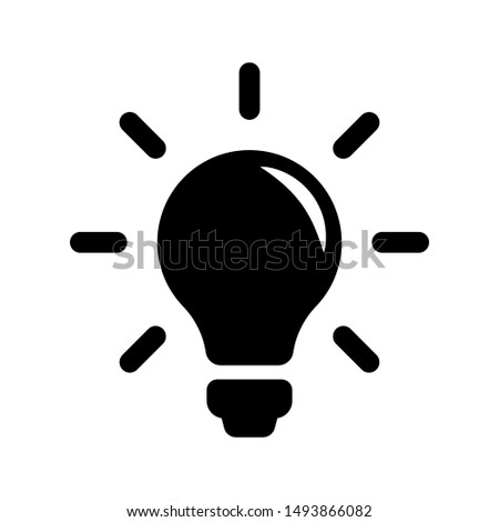 Bulb light vector icon. Lighting Electric lamp illustration symbol. Idea sign or logo.