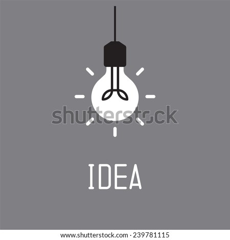 bulb with idea concept