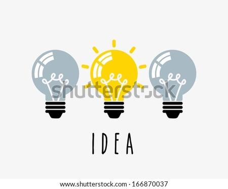bulbs design over white background vector illustration