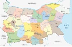 bulgaria administrative map