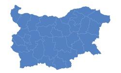 Bulgaria map blue color