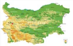 Bulgaria physical map