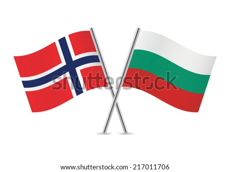 bulgarian and norwegian flags