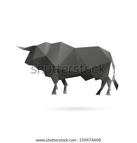Bull abstract isolated on a white backgrounds