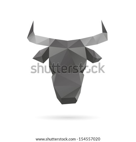 Bull abstract isolated on a white backgrounds vector illustration