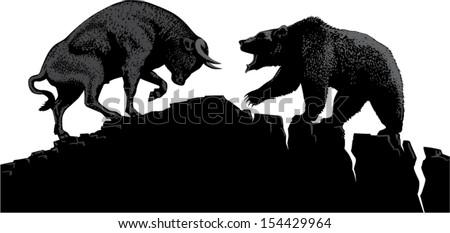 bull and bear  symbols of stock ...