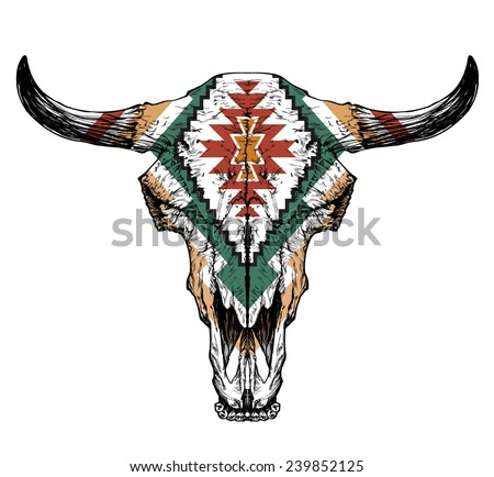 bull   auroch skull with horns