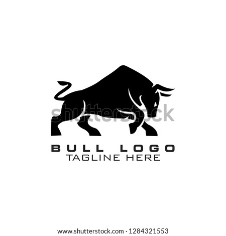 bull, buffalo, modern logo, clip art vector