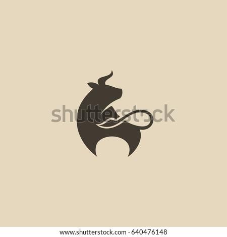 Bull, cow icon - vector illustration
