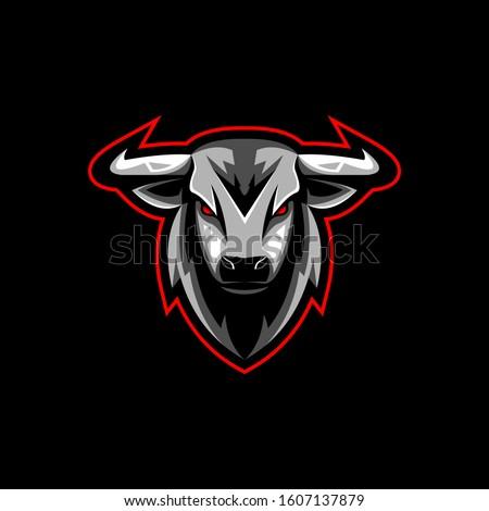 Bull esport gaming mascot logo vector