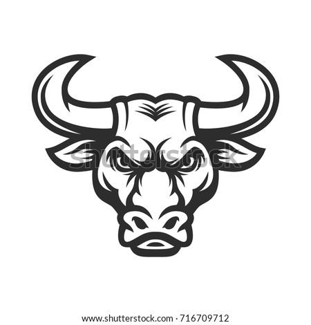 bull head mascot buffalo logo