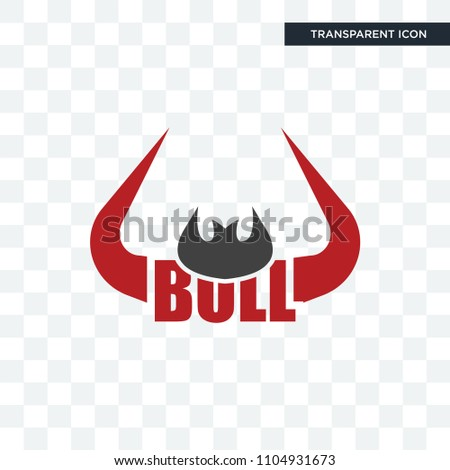 bull horn vector icon isolated on transparent background, bull horn logo concept