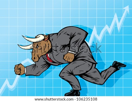 Bull market - stock vector