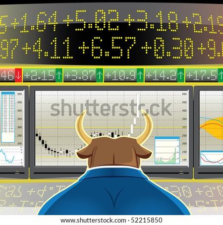 bull market (vector, CMYK)