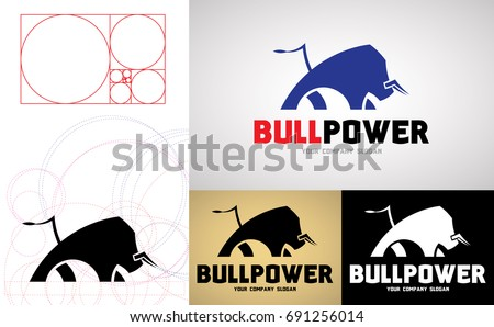 bull power logo design for