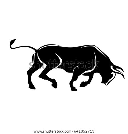bull silhouette angry