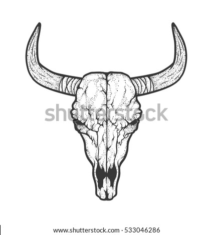 Cow skull tattoo flash - photo#28