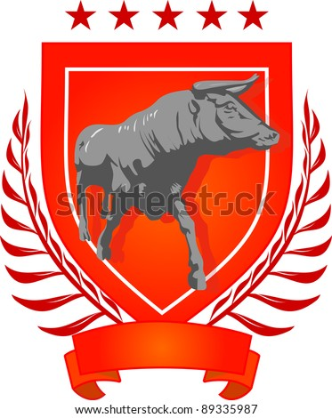 bull vector for logo