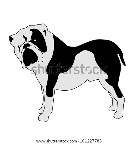 Bulldog Silhouette Bulldog Abstract Silhouette