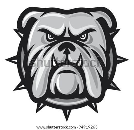 bulldog head  angry bulldog