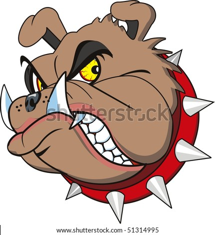 Bulldog Head Very Angry. Isolated Stock Vector 51314995 : Shutterstock
