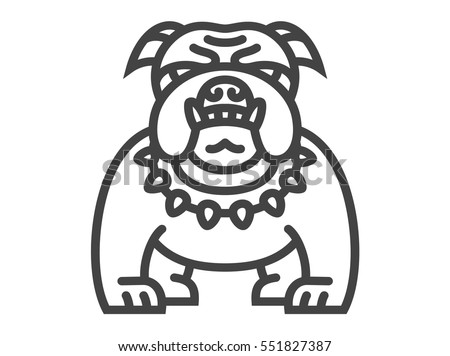 Bulldog icon - vector illustration on white background