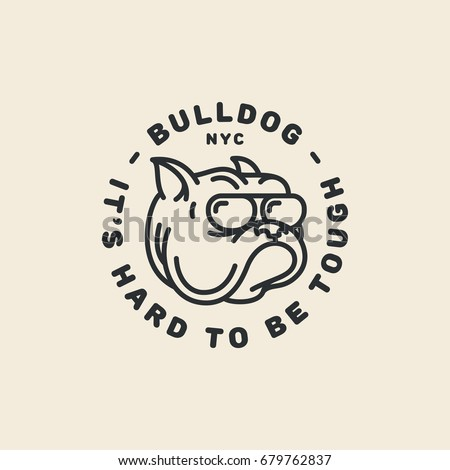 bulldog logo template design in