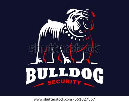 bulldog logo   vector