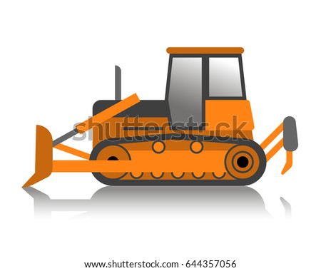 Construction Machinery Isolated On White Background