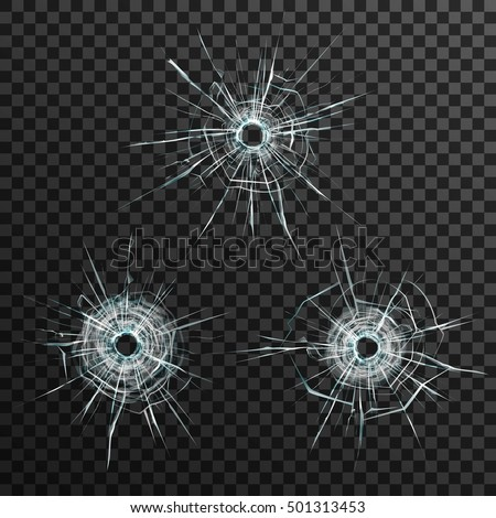 bullet holes template in glass