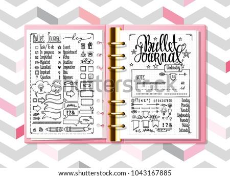 bullet journal hand drawn