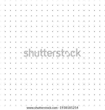 Bullet journal texture seamless pattern. Black dot grid graph paper template for notebooks. Dotted background. Printable vector design.