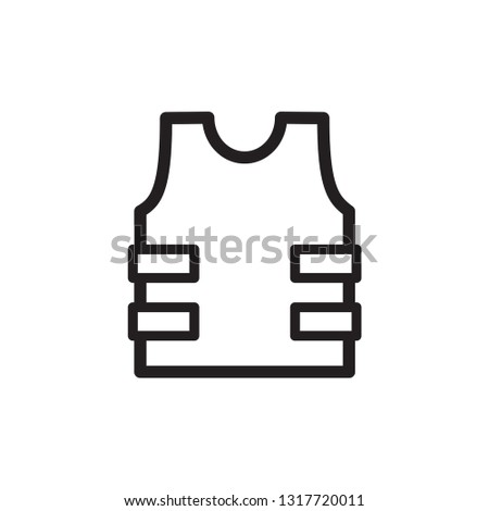 bullet proof vest icon in trendy flat style  Stock photo ©