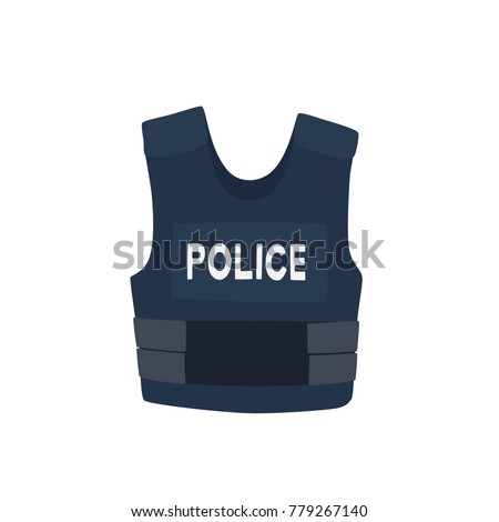 Bulletproof vest icon, vector illustration design. Police collection.