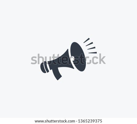 Bullhorn icon isolated on clean background. Bullhorn icon concept drawing icon in modern style. Vector illustration for your web mobile logo app UI design.