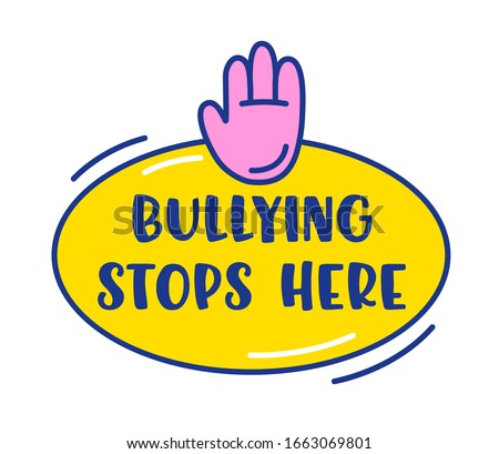 bullying stops here banner or