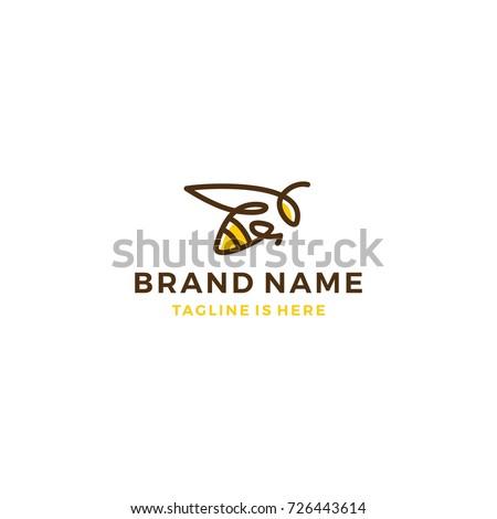 bumble bee logo template vector