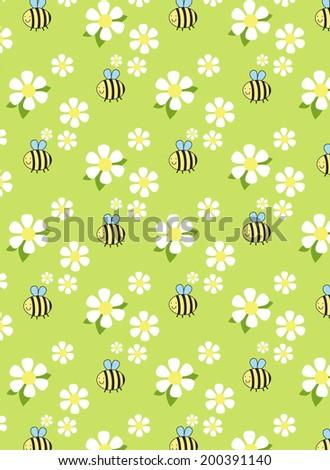 bumblebee with chamomile