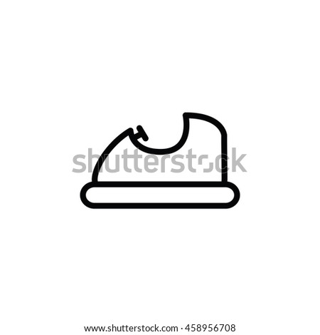 bump car outline icon
