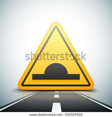 bump warning traffic sign