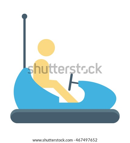 bumper car vector icon