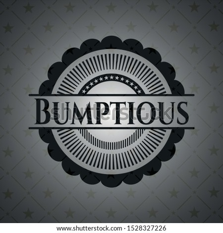 Bumptious black emblem. Vector Illustration. Detailed. Stock photo ©