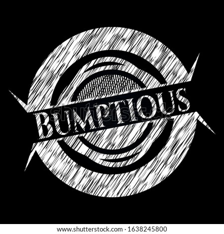 Bumptious chalk emblem. Vector Illustration. Detailed. Stock photo ©