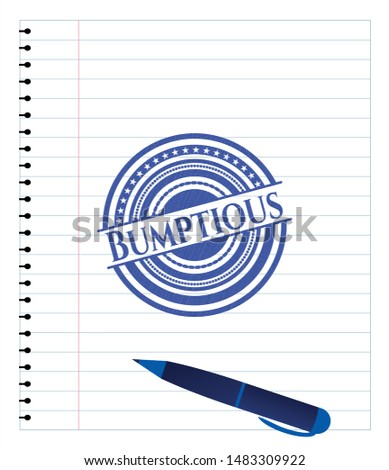 Bumptious draw (pen strokes). Blue ink. Vector Illustration. Detailed. Stock photo ©